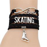 Armband svart m skate